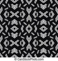 seamless pattern vintage ethnic ornament on a black background vector illustration
