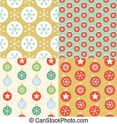 Seamless pattern wallpaper of christmas ball, design for greeting card, wrapping paper gift, backdrop in retro style