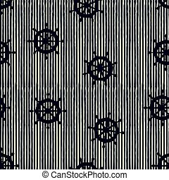 seamless pattern wheels and stripes