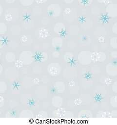 seamless pattern white, blue blurred snowflakes on blue background, Winter background