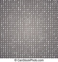 Seamless pattern white drops on gray background