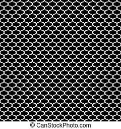 Seamless pattern. White line texture on black background.