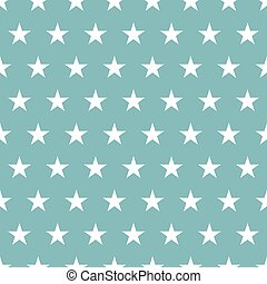 Seamless pattern. White stars on a blue background. Vector illustration