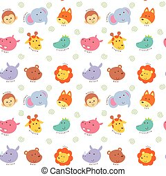 Seamless pattern wild animal