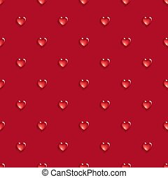 Seamless pattern with 3d hearts.