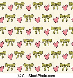 Seamless pattern with a bow