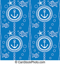 seamless vector pattern with a maritime theme