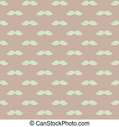 seamless pattern with a mustache