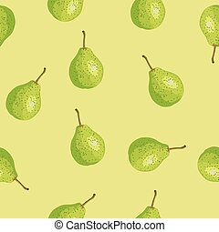 Seamless pattern with a pear.