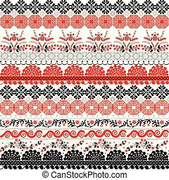 Seamless pattern with a polish ornament.