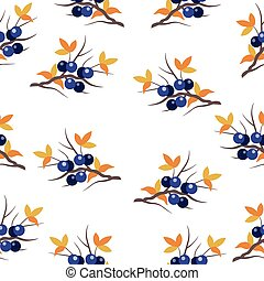 pattern with a sloe sprig