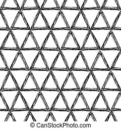 seamless pattern with a triangle