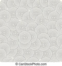 seamless pattern with abstract black circles