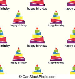 seamless pattern with abstract cake. vector