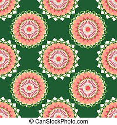 Seamless pattern with abstract circle