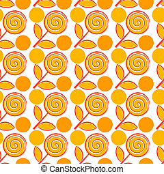 Seamless pattern with abstract flowers
