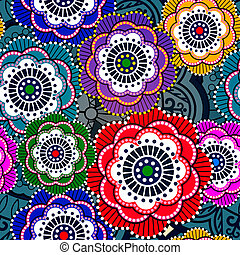 Seamless pattern with abstract flowers. EPS 10
