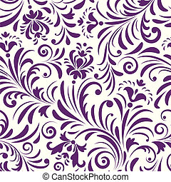 seamless pattern with abstract flowers - Vector illustration...