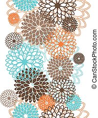Seamless pattern with abstract flowers. Vector illustration
