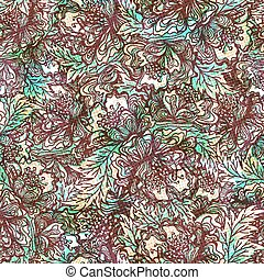 Seamless pattern with abstract flowers. Vector, EPS 10