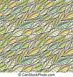 Seamless pattern with abstract leaves.