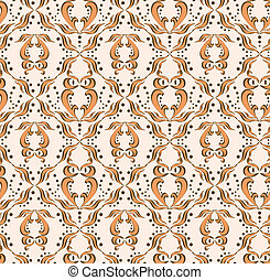 Seamless pattern with abstract owl
