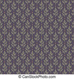 Seamless pattern with abstract plants