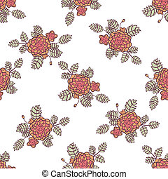 Seamless pattern with abstract roses