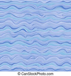 Seamless pattern with abstract sea waves