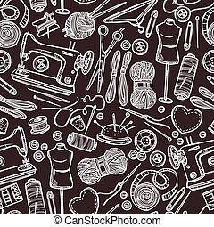 Seamless Pattern With Accessories F