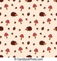 pattern with acorns