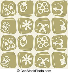 seamless pattern with adinkra