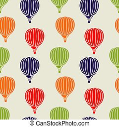 Seamless pattern with air balloons. Vector illustration