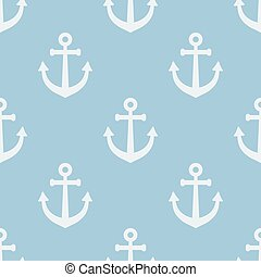 Seamless pattern with anchors.