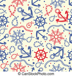 Seamless pattern with anchors