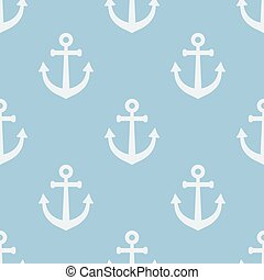 Seamless pattern with anchors. Vector illustration. Soft colors.