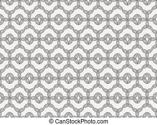 Seamless pattern with ancient runes. Triquetra symbol....