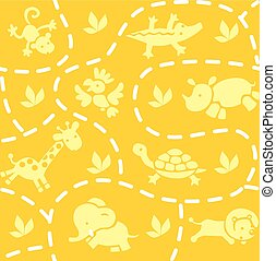 Seamless pattern with animals