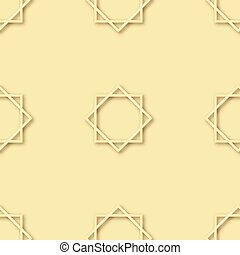 Seamless pattern with arabic ornament. Vector.