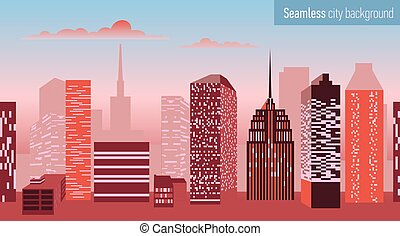 Seamless pattern with architectural building.