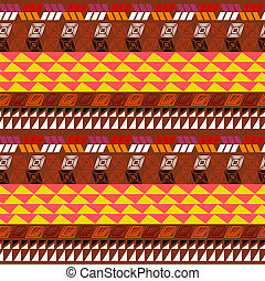Seamless pattern with Aztec drawing