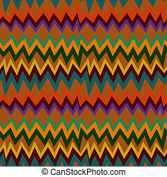 Seamless pattern with Aztec elements