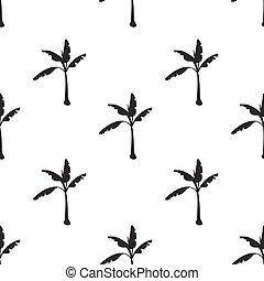 seamless pattern with banana tree