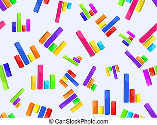 seamless pattern with bar graph