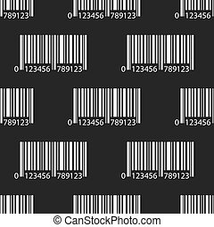Seamless pattern with Barcode signs,