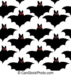 Seamless pattern with bats for halloween