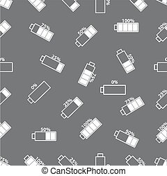seamless pattern with battery