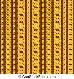 Seamless pattern with beautiful jewelry gold chains.