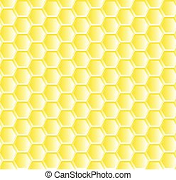 seamless pattern with bee honeycombs