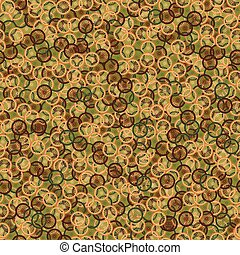 Seamless pattern with bike wheels